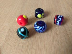 Viking glass beads Entwerkstatt Sarah Dahl blog