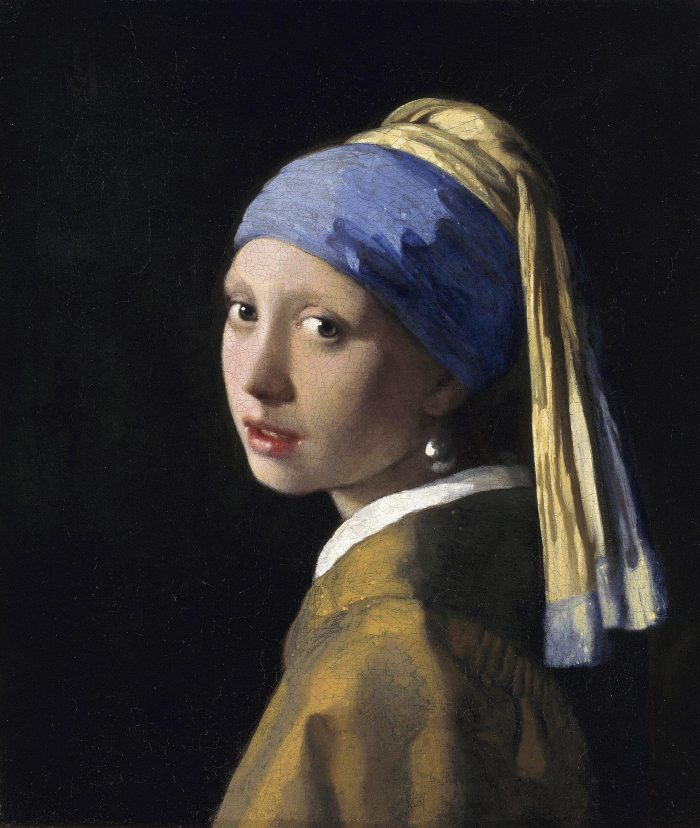 Girl with a Pearl Earring, Vermeer, public domain