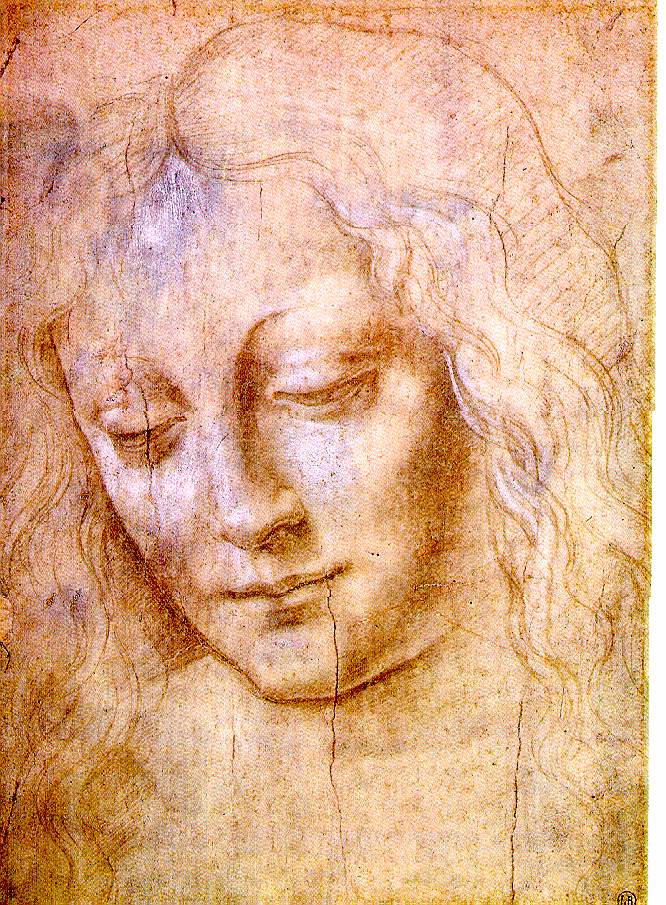 Da Vinci, Head of a Young Woman, Webmuseum Paris via ibiblio.org